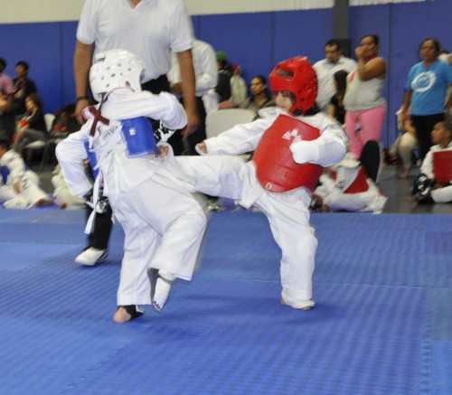 Sparring at the Tournament October 2014